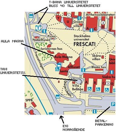 Karta Stockholms Universitet.Forum Dagen